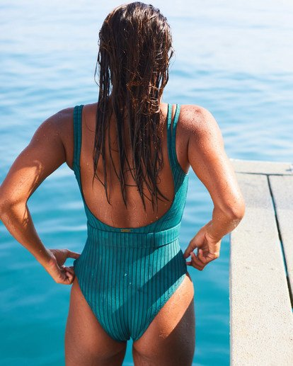 1 Suns Out Rib One Piece Swim Grey X1751BSU Billabong