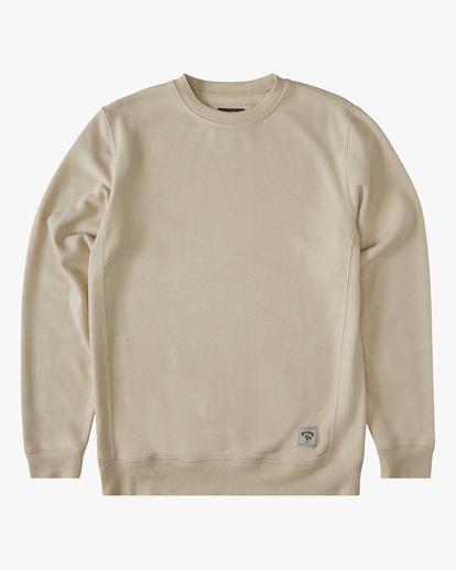 3 Adventure Division Ventura Hemp - Recyceltes Sweatshirt für Männer Beige X1FL01BIS1 Billabong