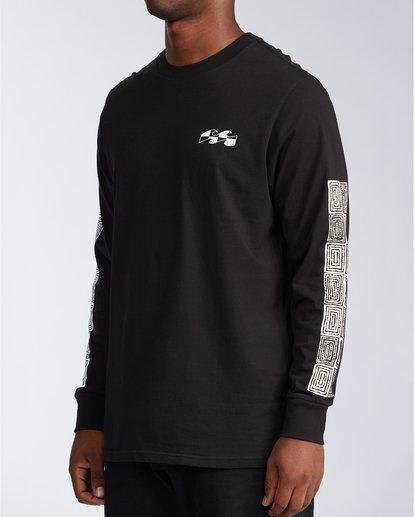 2 Atmoshere - T-shirt met Lange Mouw voor Heren Black X1LS20BIS1 Billabong