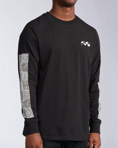 3 Atmoshere - T-shirt met Lange Mouw voor Heren Black X1LS20BIS1 Billabong
