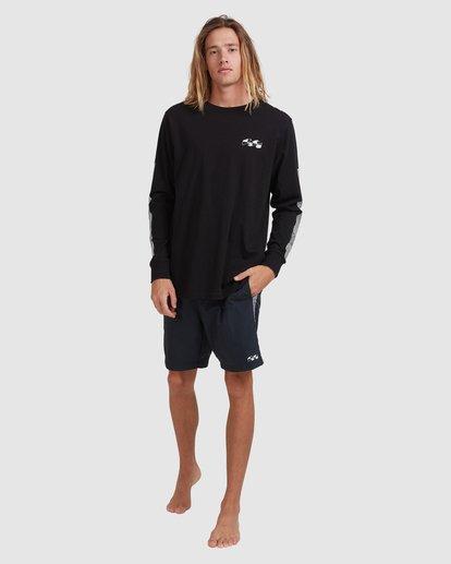 12 Atmoshere - T-shirt met Lange Mouw voor Heren Black X1LS20BIS1 Billabong