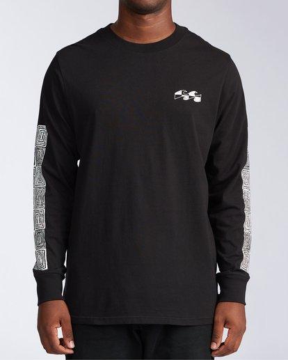 5 Atmoshere - T-shirt met Lange Mouw voor Heren Black X1LS20BIS1 Billabong