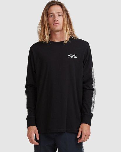 10 Atmoshere - T-shirt met Lange Mouw voor Heren Black X1LS20BIS1 Billabong