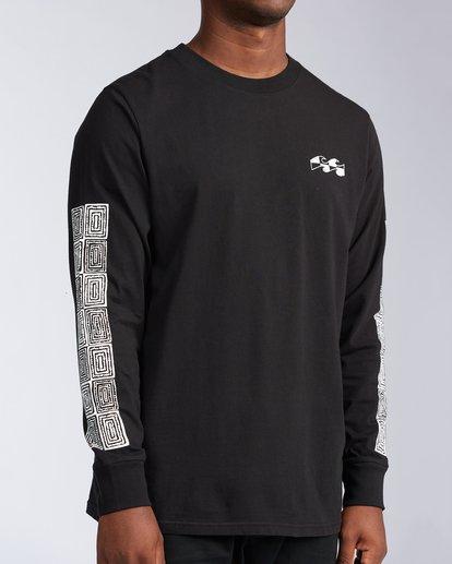 7 Atmoshere - T-shirt met Lange Mouw voor Heren Black X1LS20BIS1 Billabong