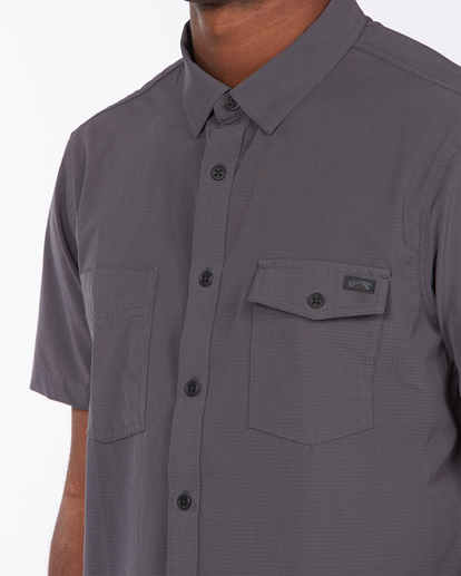 4 Adventure Division Surftrek - Camisa de manga corta de tejido reciclado para Hombre Negro X1SH02BIS1 Billabong