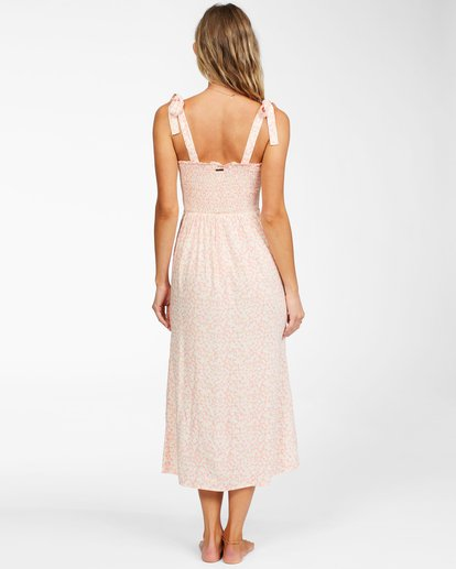 3 Amor Midi - Vestido midi para Mujer Naranja X3DR04BIS1 Billabong