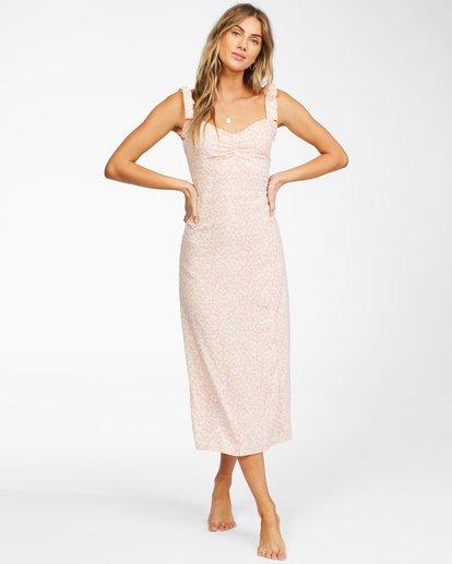1 Amor Midi - Vestido midi para Mujer Naranja X3DR04BIS1 Billabong