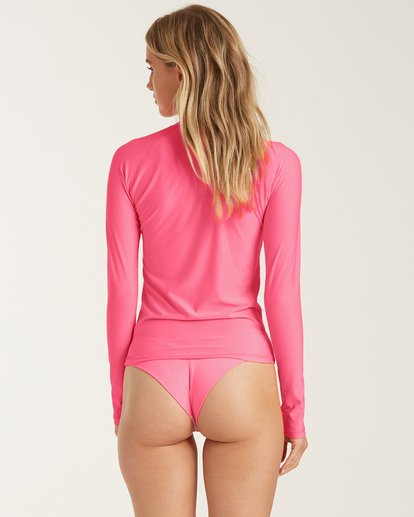 2 Sol Searcher - Recycled Long Sleeve UPF 50 One-Piece Swimsuit for Women Rosa X3GY01BIS1 Billabong