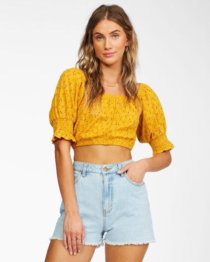 Summer Girl - Puff Sleeve Top for Women  X3KT21BIS1
