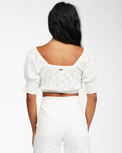 3 Summer Girl - Puff Sleeve Top for Women White X3KT21BIS1 Billabong