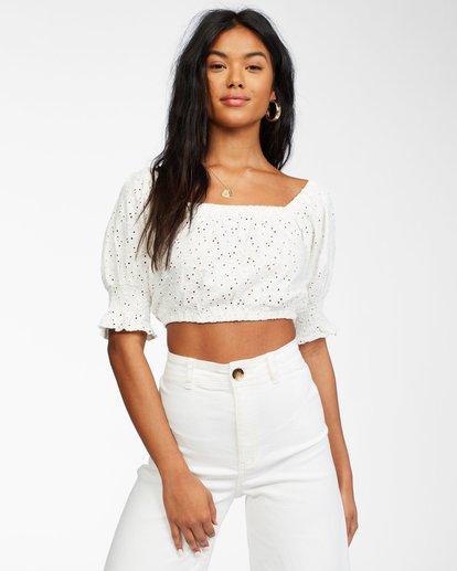 1 Summer Girl - Puff Sleeve Top for Women White X3KT21BIS1 Billabong