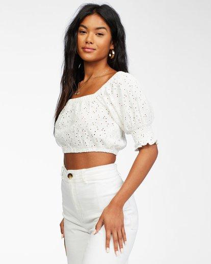 2 Summer Girl - Puff Sleeve Top for Women White X3KT21BIS1 Billabong