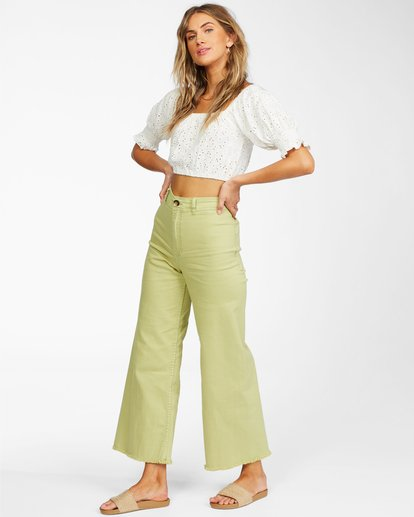 2 Free Fall - Wide Leg Trousers for Women Multicolor X3PT01BIS1 Billabong