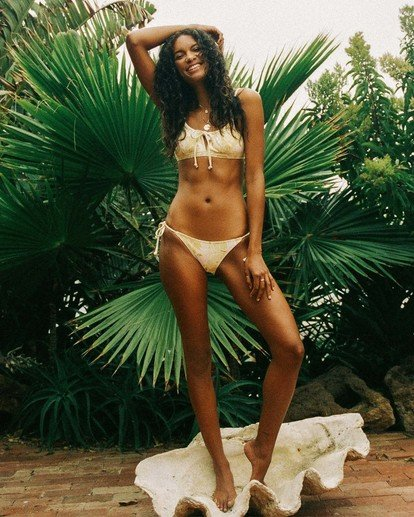 1 Make You Mine Hike - Recycled Bikini Bottoms for Women Yellow X3SB13BIS1 Billabong