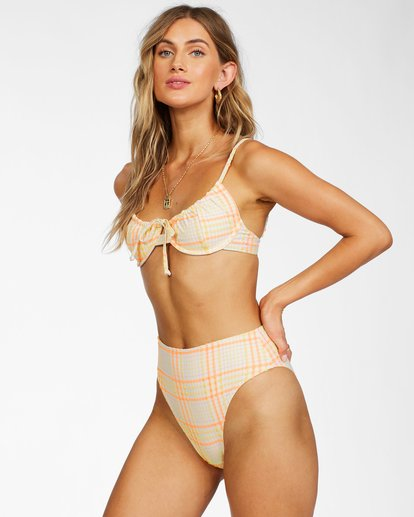 1 Pretty In Plaid High Maui - Recycled Bikini Bottoms for Women Multicolor X3SB18BIS1 Billabong