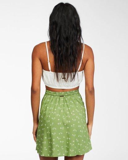 2 Crossroads - Mini Skirt for Women Green X3SK01BIS1 Billabong