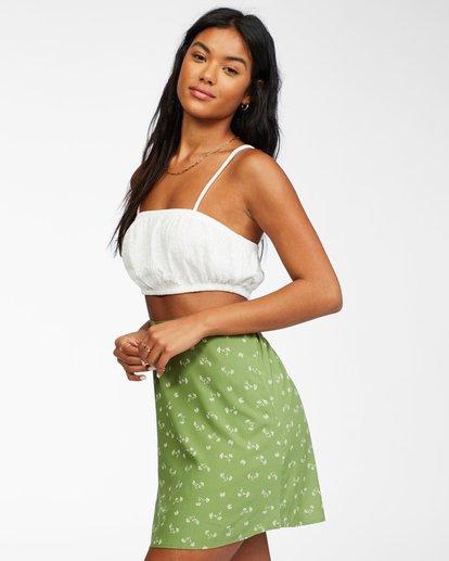 1 Crossroads - Mini Skirt for Women Green X3SK01BIS1 Billabong