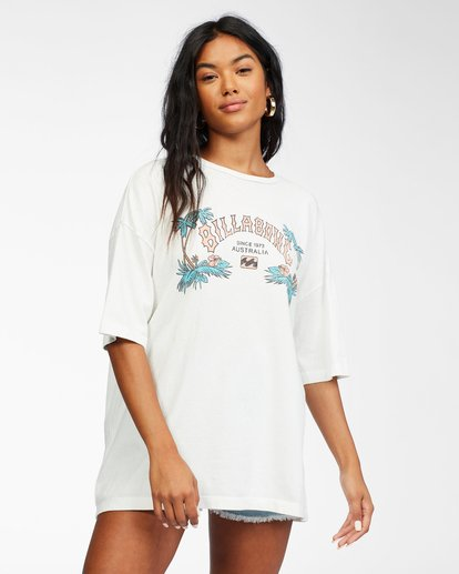 0 Heritage Palms - T-Shirt for Women White X3SS21BIS1 Billabong