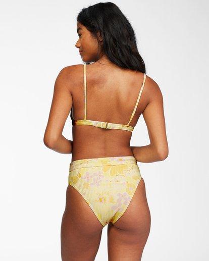 3 Make You Mine Coco Bralette - Recycled Bikini Top for Women Yellow X3ST14BIS1 Billabong