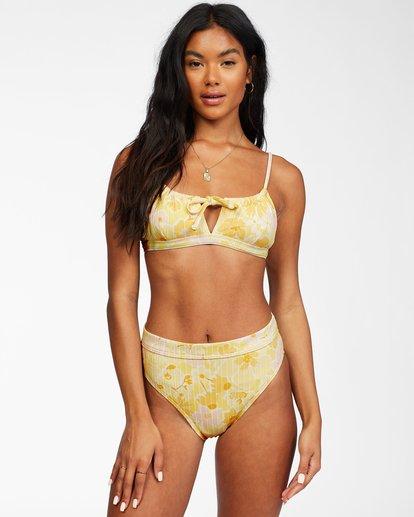 1 Make You Mine Coco Bralette - Recycled Bikini Top for Women Yellow X3ST14BIS1 Billabong