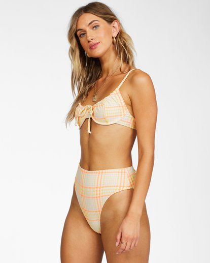 2 Pretty In Plaid Underwire - Recycled Bikini Top for Women Multicolor X3ST18BIS1 Billabong