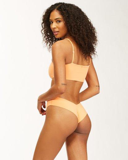 3 Sol Searcher - Bandeau Bikini Top for Women Orange X3ST23BIMU Billabong