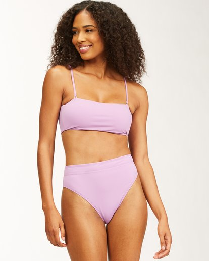 0 Sol Searcher - Bandeau Bikini Top for Women Purple X3ST23BIMU Billabong