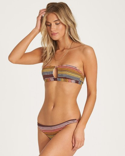 0 Sun Fall Tanga Bikini Bottom Grey XB04WBSU Billabong