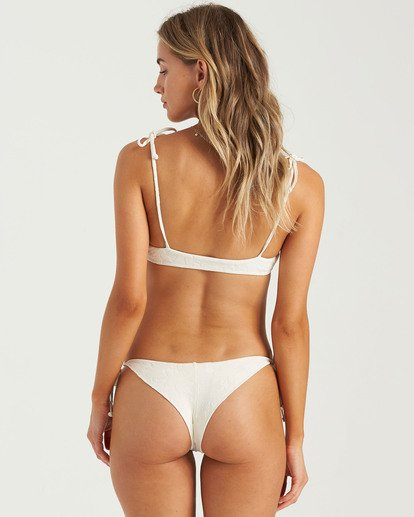 1 Crystal Tides Tanga Bikini Bottom White XB053BFA Billabong