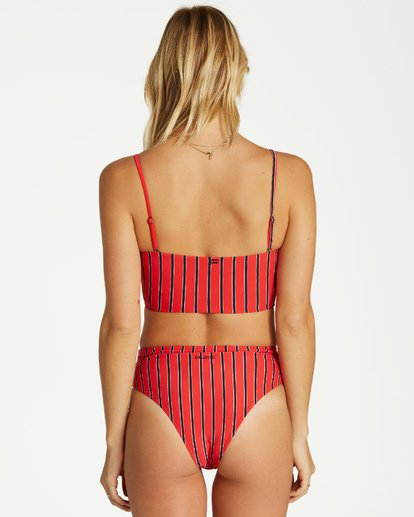 1 Hot For Now Rise Bikini Bottom Red XB10VBHO Billabong