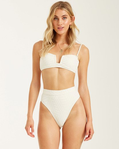 4 Peeky Days Rise Bikini Bottom White XB122BPE Billabong