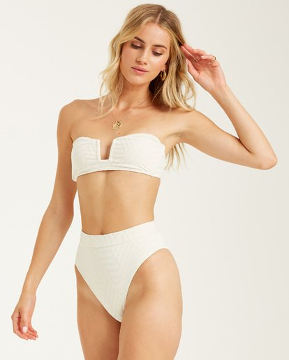 6 Peeky Days Rise Bikini Bottom White XB122BPE Billabong