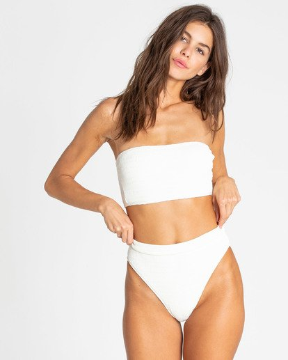 3 Sun Rise Pant High-Waisted Bikini Bottom White XB17TBSU Billabong