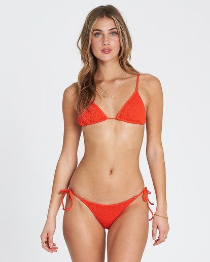 2 Fire Isla Ruched Tie Side Bikini Bottom Red XB20SBFI Billabong