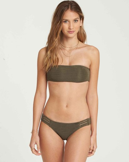 2 No Hurry Tropic Bikini Bottom Green XB21QBNO Billabong