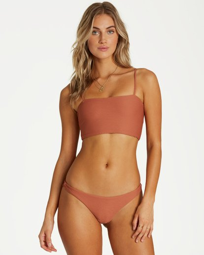 2 Tanlines Tanga Bikini Bottom Brown XB23VBTA Billabong