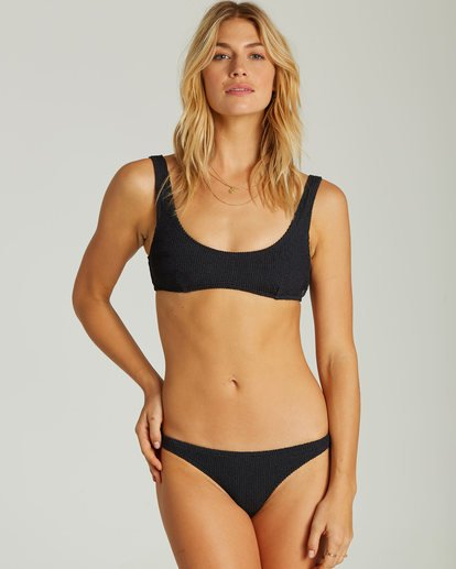 2 Summer High Isla Bikini Bottom Black XB40QBSU Billabong