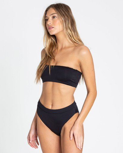 4 Sol Searcher Rise High-Waisted Bikini Bottom Black XB563BSE Billabong