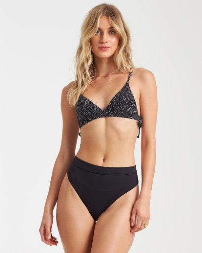 3 Sol Searcher Rise High-Waisted Bikini Bottom Black XB56TBSO Billabong