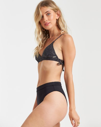 2 Sol Searcher Rise High-Waisted Bikini Bottom Black XB56TBSO Billabong