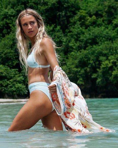 1 Rolling By Maui Rider Bikini Bottom Blue XB581BRO Billabong