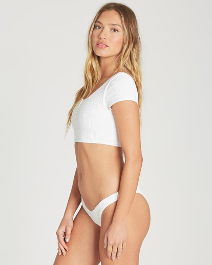 1 Heating Up Rib Hike Bikini Bottom White XB62TBHE Billabong