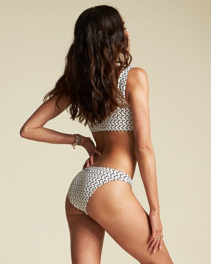 0 Sincerely Jules Sweet Siesta Tropic Bikini Bottom White XB861BSW Billabong