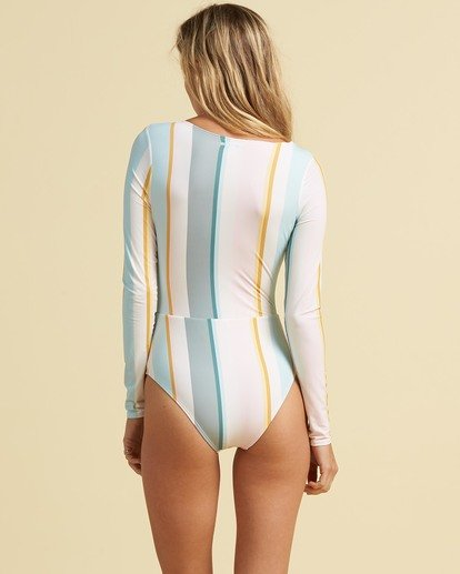 3 Salty Blonde Feelin Salty Long Sleeve Swimsuit Grey XR033BFE Billabong