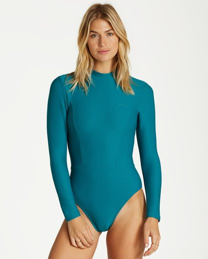 1 Tanlines Long Sleeve Swimsuit Black XR04VBTA Billabong