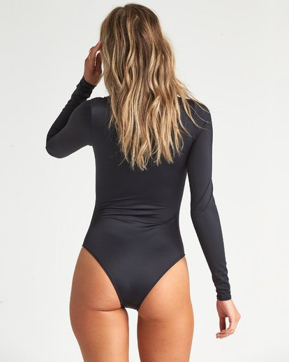 4 Onyx Wave Long Sleeve Swimsuit Black XR111BON Billabong
