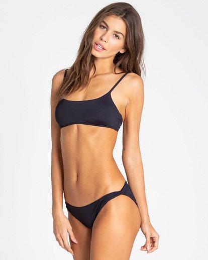 1 Sol Searcher Mini Crop Bralette Bikini Top Black XT02TBSO Billabong
