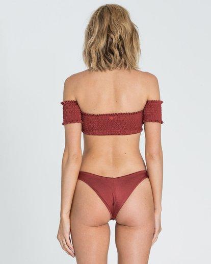 3 Sol Searcher Off Shoulder Strapless Bikini Top Red XT03SBSO Billabong