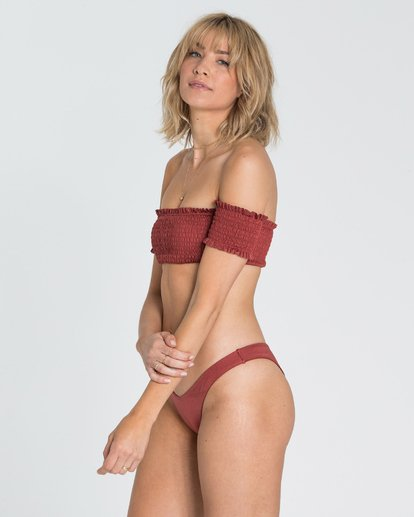 2 Sol Searcher Off Shoulder Strapless Bikini Top Red XT03SBSO Billabong