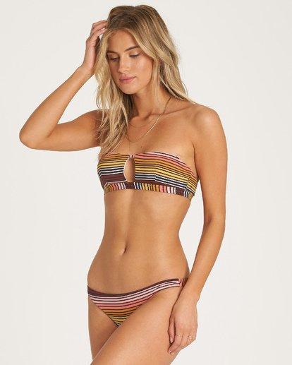 1 Sun Fall Bandeau Bikini Top Grey XT04WBSU Billabong
